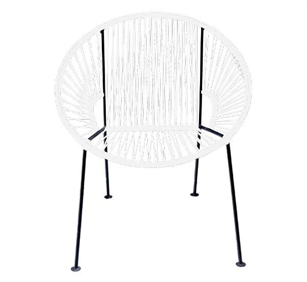White PVC Cord Chair rental Los Angeles, CA