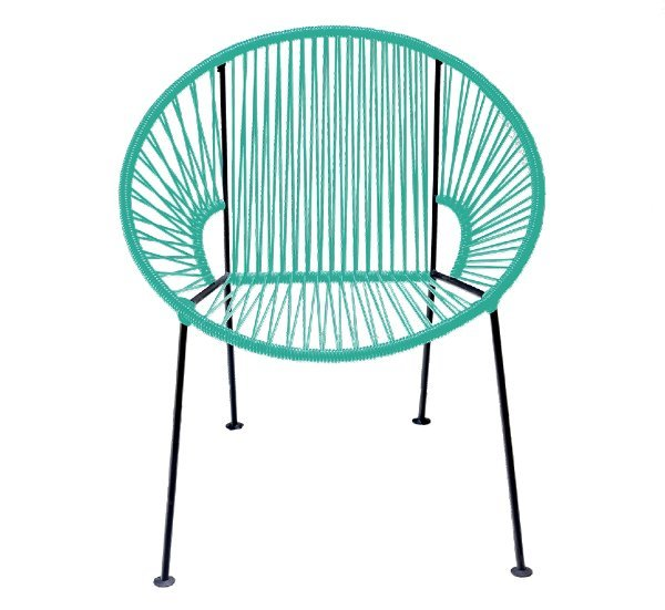Teal PVC Cord Chair rental Los Angeles, CA