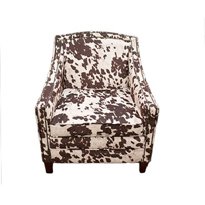 Cow Print Arm Chair rental Los Angeles, CA