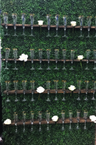Champagne Wall rental Los Angeles, CA