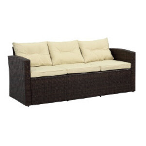 Brown Wicker Sofa rental Los Angeles, CA
