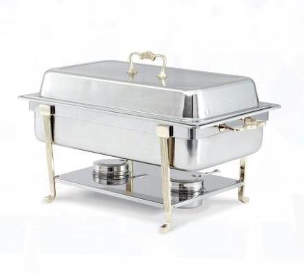 Brass Trim 8 QT Chafing Dish rental Los Angeles, CA