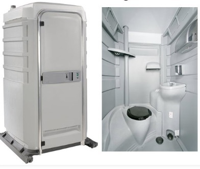 Flushable Portable Restroom rental Los Angeles, CA