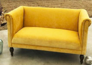 Gold Vintage Loveseat rental Los Angeles, CA
