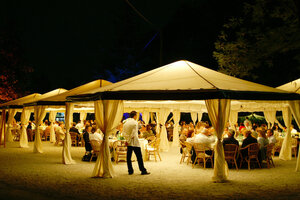 20 x 20 White Frame Tent rental Los Angeles, CA