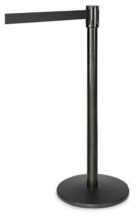 Stanchion - Black Steel with retractable belt rental Los Angeles, CA