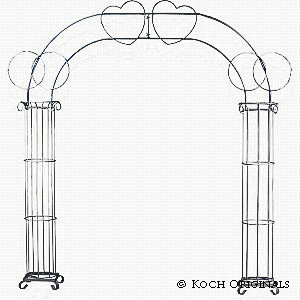 Double Ring Heart Arch rental New Orleans, LA