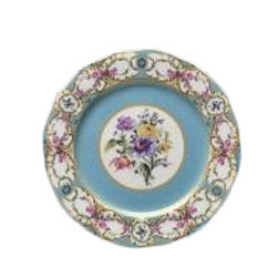 Floral Vintage Blue Dinner Plate  rental New Orleans, LA
