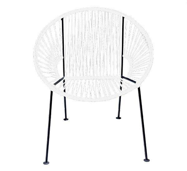 White PVC Cord Chair rental New Orleans, LA