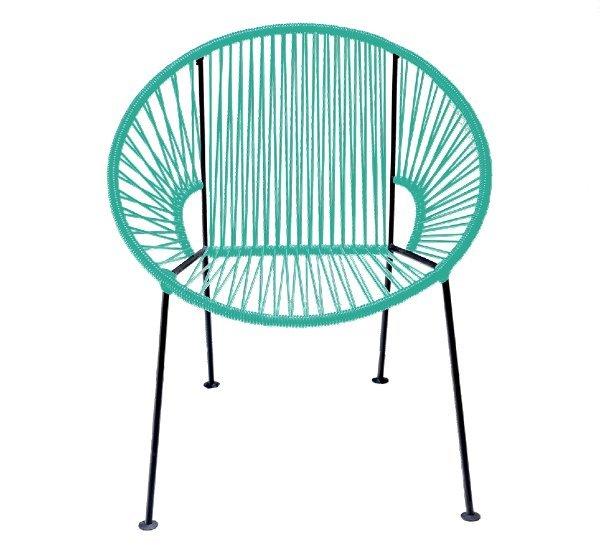 Teal PVC Cord Chair rental New Orleans, LA