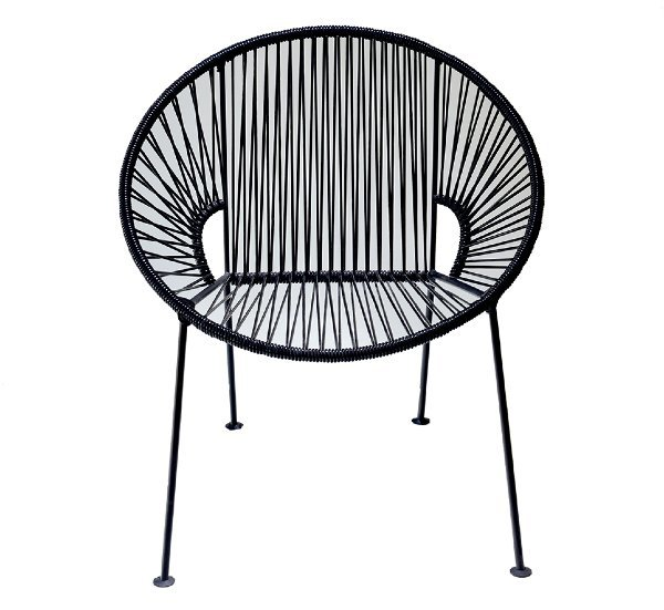 Black PVC Cord Chair rental New Orleans, LA