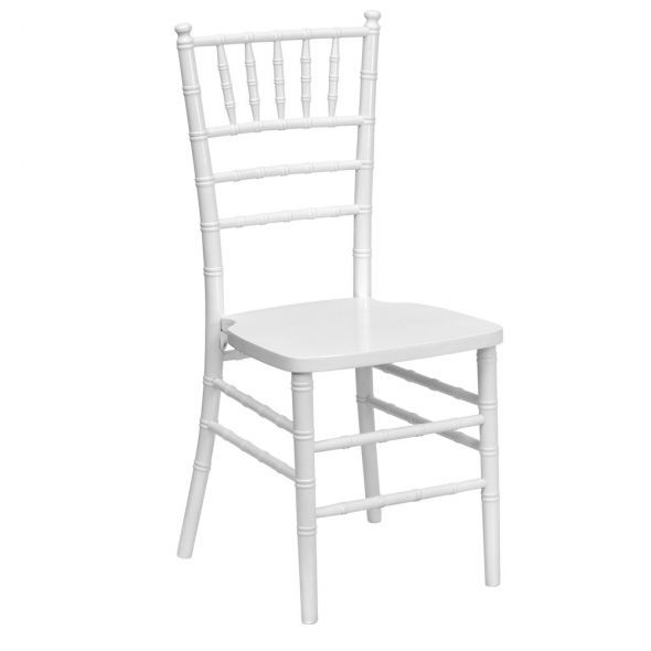 White Chiavari Chair with Pad rental New Orleans, LA