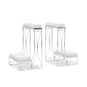 Twin Silver Kneeling Benches rental New Orleans, LA